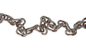 Corrente oxidada do metal no fundo branco Imagens de Stock Royalty Free