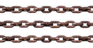 Corrente oxidada isolada no branco Imagens de Stock Royalty Free
