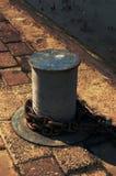 Corrente oxidada no porto fluvial Imagem de Stock