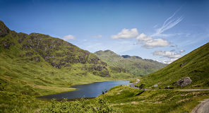 Corrente scozzese degli altopiani Immagini Stock Libere da Diritti