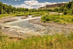Corrente serpeggiante del Wyoming immagini stock
