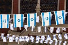 Correntes da bandeira de Israel Fotos de Stock