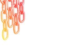 Correntes de suspensão, isoladas no fundo branco Imagem de Stock