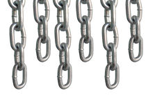 Correntes de suspensão, isoladas no fundo branco Imagens de Stock