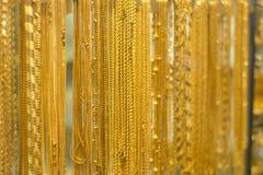 Correntes do ouro Fotografia de Stock Royalty Free