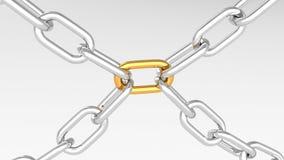 Correntes do ouro e da prata Imagens de Stock Royalty Free
