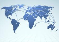 Correnti dell'annuncio pubblicitario di logistica di commercio mondiale Fotografia Stock Libera da Diritti