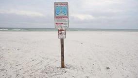 Correnti di strappo Rompa la presa dello strappo Firmi sulla spiaggia a Pensacola, Florida stock footage
