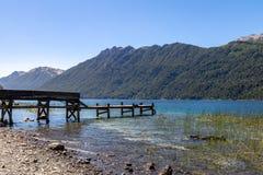 Correntoso See - Landhaus-La-Angostura, Patagonia, Argentinien Lizenzfreies Stockbild