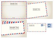 Correo aéreo, sello postal y letra Imagen de archivo libre de regalías