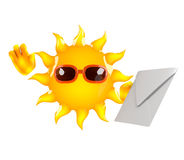 correo de 3d Sun Imagen de archivo libre de regalías