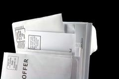 Correo de desperdicios Fotos de archivo libres de regalías