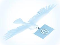 Correo de la paloma Imágenes de archivo libres de regalías