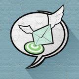 Correo de la velocidad Imágenes de archivo libres de regalías