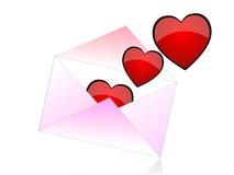 Correo del amor Imagen de archivo libre de regalías