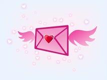 Correo del amor del vuelo Foto de archivo libre de regalías