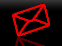 correo del rojo 3d Foto de archivo libre de regalías