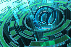 Correo electrónico, comunicación de Internet y concepto de la informática Fotografía de archivo libre de regalías