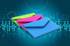 Correo electrónico, concepto de la comunicación Imágenes de archivo libres de regalías