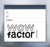Correo electrónico de las letras del factor del wow Foto de archivo libre de regalías