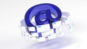 correo email Proporcione la conectividad por todo el mundo Reparto del correo 45 ilustración del vector