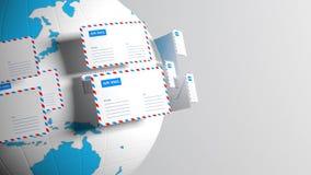 correo email Proporcione la conectividad por todo el mundo Reparto del correo 42 ilustración del vector