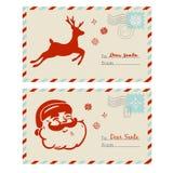 Correo a las tarjetas de Papá Noel Imagen de archivo