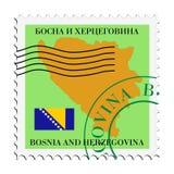 Correo to/from Bosnia y Hercegovina Imagenes de archivo