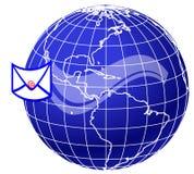 Correo y mundo globe5 stock de ilustración