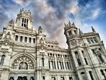 Correos bulding Madrid Spain Royalty Free Stock Image