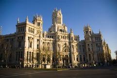 Correos die Madrid Spanje bouwt Royalty-vrije Stock Foto