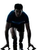 Correr running do velocista do corredor do homem fotografia de stock