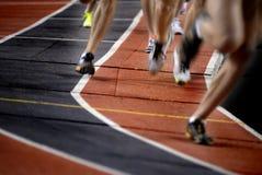 Correr una carrera Foto de archivo libre de regalías