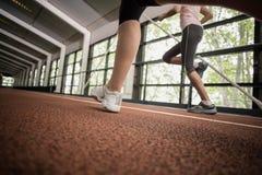 Correre atletico delle donne Immagini Stock