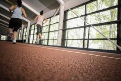 Correre atletico delle donne Fotografia Stock Libera da Diritti
