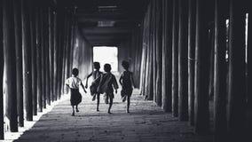 Correre dei bambini Fotografie Stock