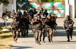 Correre dei soldati Fotografia Stock Libera da Diritti