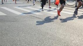 Correre maratona degli atleti Immagine Stock