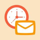 Correspondência e letras do tempo Ilustração Stock