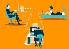 Correspondência insegura Segurança da informação Com cuidado hacker! ilustração royalty free