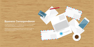 Correspondance d'affaires illustration stock