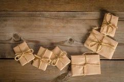 Correspondance de Noël sur le fond en bois photos stock