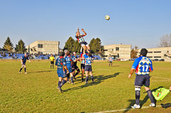 Correspondance de rugby Cus Torino contre le rugby Paese photos stock