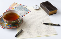 Correspondance historique images stock