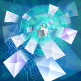 Correspondence by e-mail stock illustration