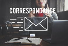 Correspondence E-mail Connection Online Messaging Concept Stock Images