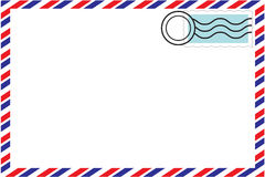 Correspondence envelope. A correspondence envelope with a stamp vector illustration