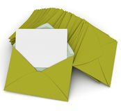 Correspondence in green Royalty Free Stock Images