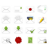 Correspondence icons Stock Photo