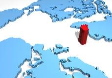 correspondencia 3D de Islandia Imagenes de archivo